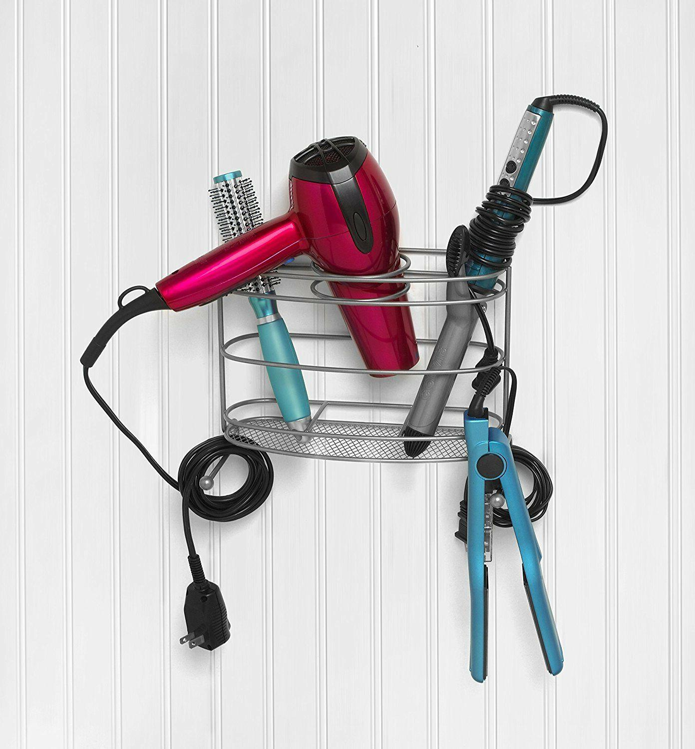 Hair Holder Blow Dryer Curling Iron Tool Stand Organizer Rack