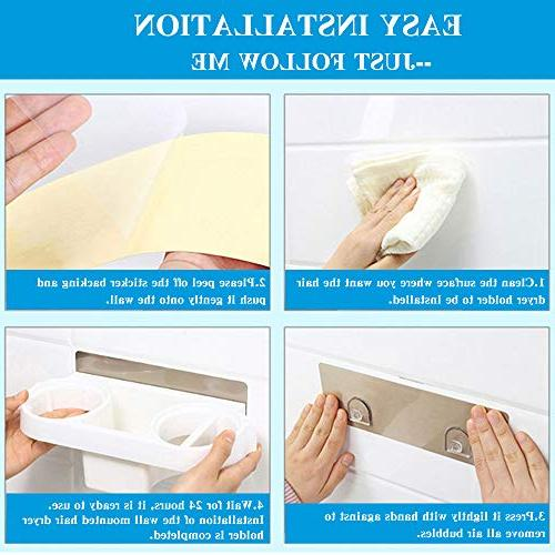 COAWG Wall Adhesive Dryer Hook, Organizers for Flat Iron