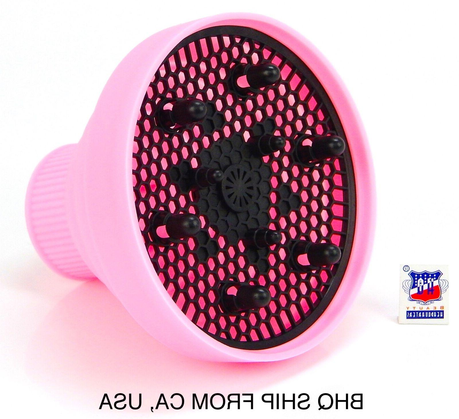 hair dryer silicone folding diffuser pink