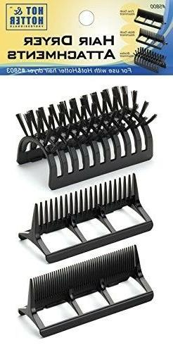 Hair Dryer Styling Attachment 3 Pack for HH Blow Dryers Blac