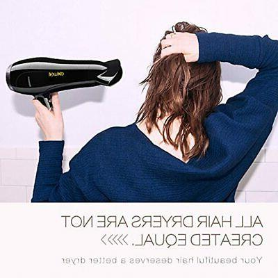 Hair Dryer With Diffuser, Exwell Lower Professional 2 And