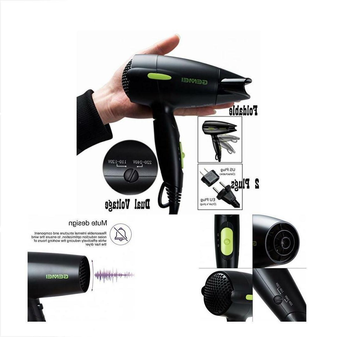 Hair Dryers & Professional Folding Blow Travel 1300 To Ion