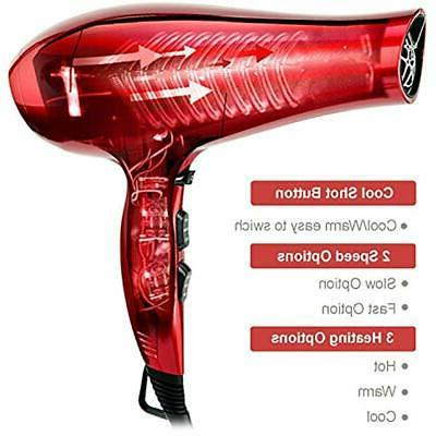 Hairdryer Ionic Blow Dryer Light Low