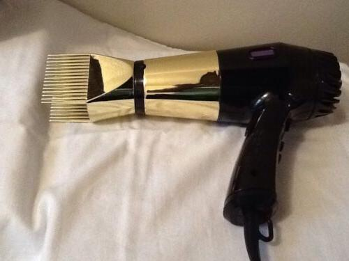 hot tool gold and black blow dryer