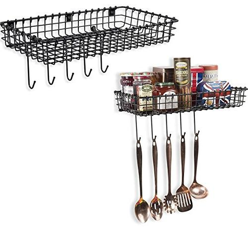 industrial decor metal wire baskets