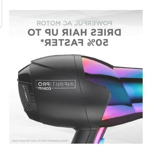 INFINITIPRO BY CONAIR Watt Ion Hair Dryer, Rainbow finish.