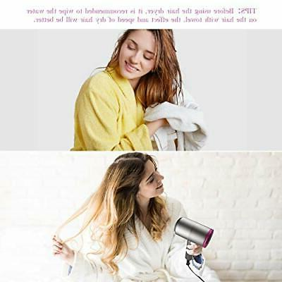 Ionic Hair Dryer, 1800-2000W Blow Dryers with 3 Types