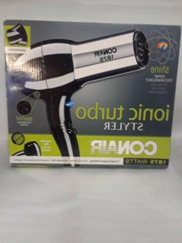 ionic turbo hair styler blow dryer 1875