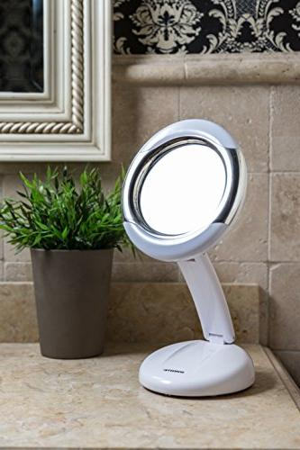 lightweight collapsible lighted vanity mirror