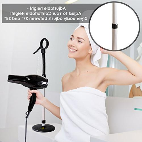 Luxury Hair Dryer Stand With Heavy - Height
