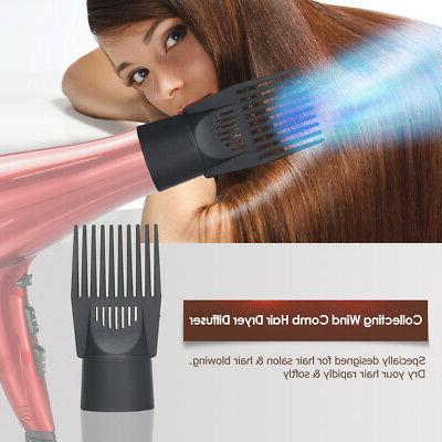 Universal Diffuser Wind Blow Brush Comb Nozzle Attachments Tool