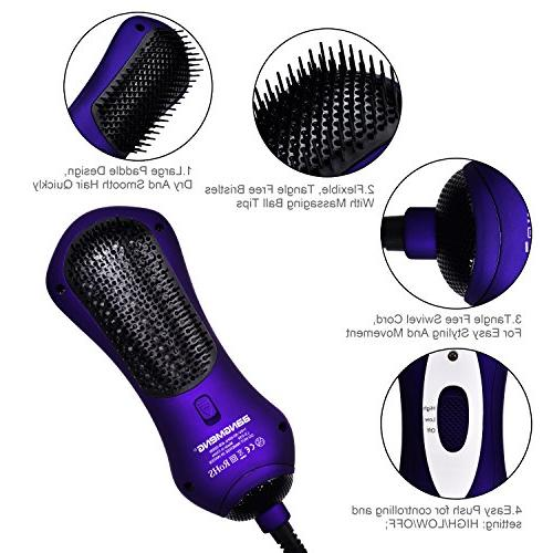 BANGMENG Mini One Step Blow & Hot Air With Infrared Ion Hair For | Frizzing,
