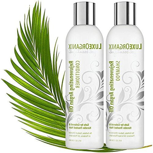 Moroccan and Conditioner: Sulfate and Cruelty-Free, Best Damaged, Dry, Curly or Frizzy Hair. Fine or Thin Safe for Color and Keratin Treated