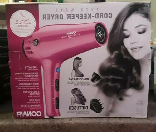 new 1875 watt cord keeper hair dryer