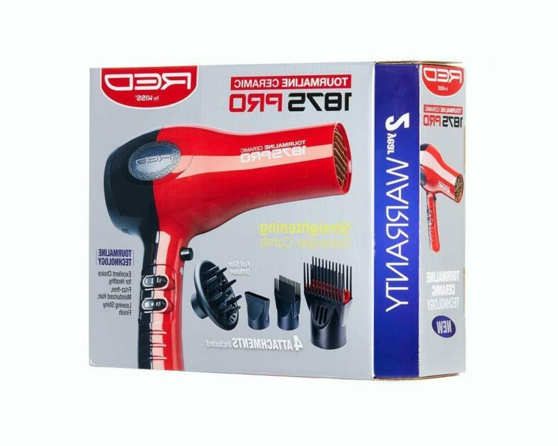 New With Comb Attachment Red