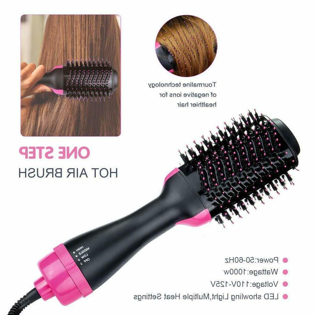 One and Volumizer Brush Straightening Curling Ion