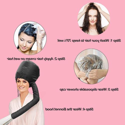 Portable Hair Soft Salon Cap Hood Dryer Attachment