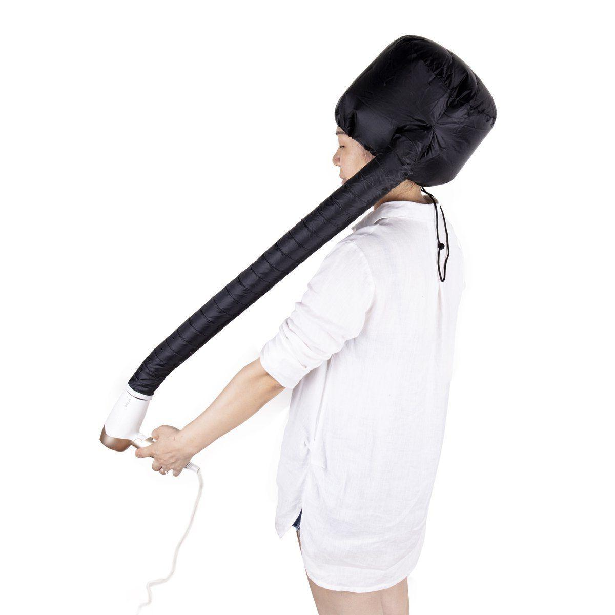 portable hair drying styling soft cap bonnet