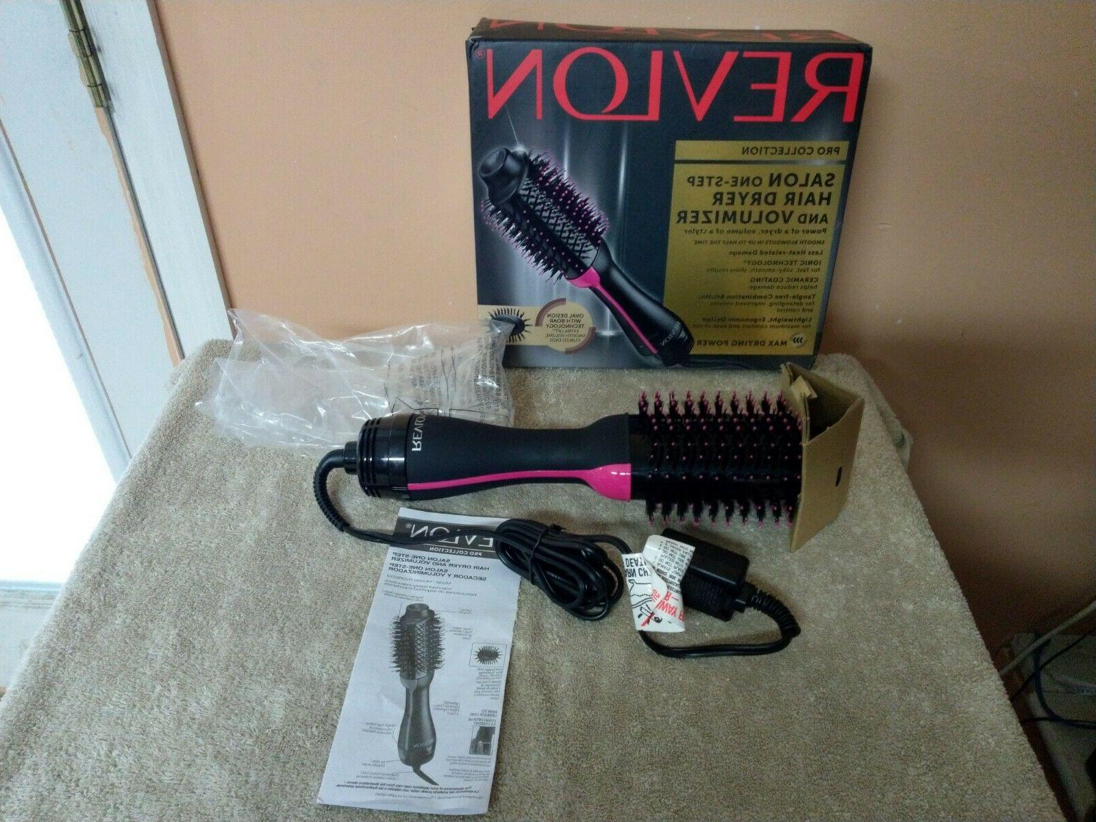 pro collection salon one step hair dryer