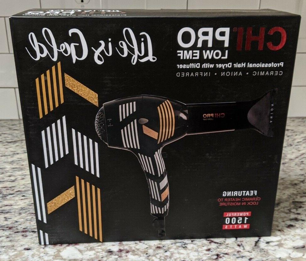CHI Low Blow w/Diffuser Limited Edition Life Gold- NEW