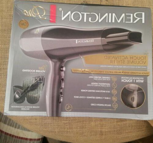 Remington Technology Blow Dryer/Touch Activated Volume