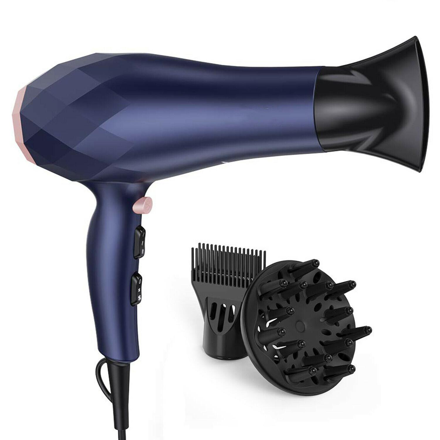 Professional 1875W Hair Dryer Concentrator Diffuser Pik Comb