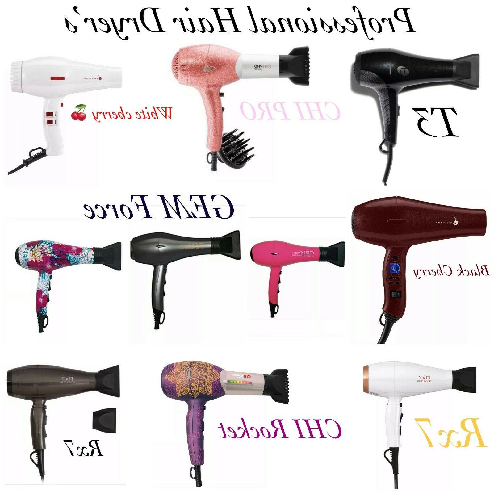 professional hair blow dryers white and black