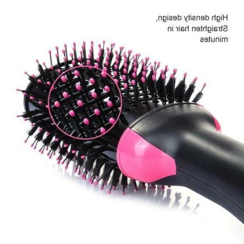 2 in1 Blow Straightener Curler Comb Air Brush
