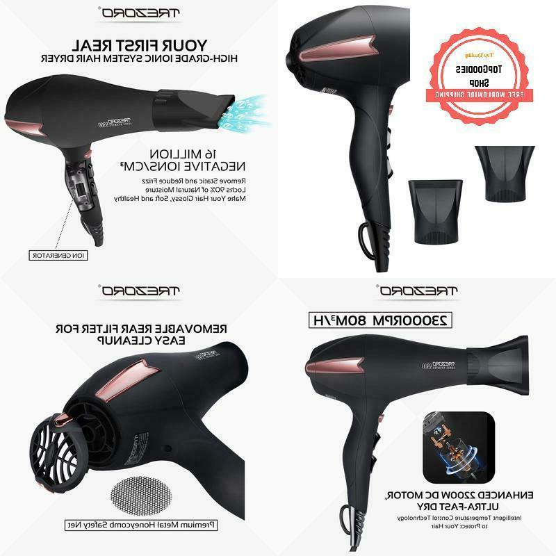 professional ionic salon hair dryer powerful 2200
