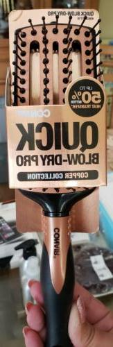 Conair Quick Blow Dry Pro Copper Collection Brush Paddle Sty