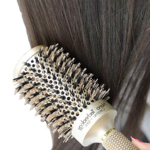 Round Barrel Anti-Static Hair Brush with Blow Dryer Hair Brush GD