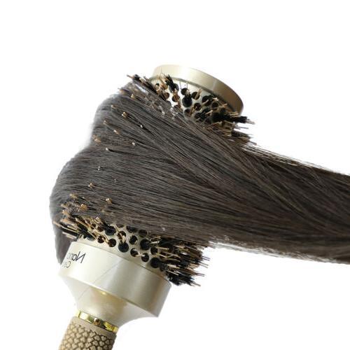 Round Barrel Anti-Static Hair Brush with Bristles Blow GD