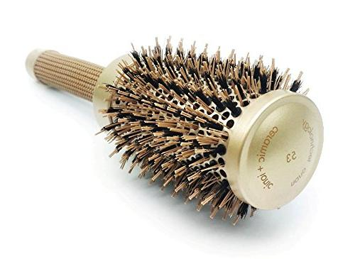 Round Hair pzaZ Boar + Ceramic Straighten, + + BONUS