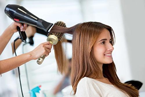 Round Hair Brush by pzaZ   + Ionic + Straighten, + BONUS Brush