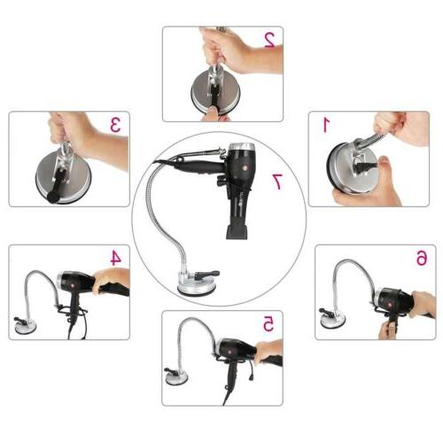 Suction Hair Dryer Stand Holder - Dryer Mount US