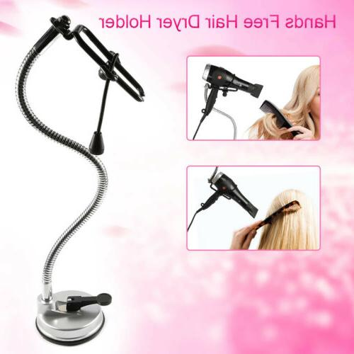 suction cup hands free hair dryer stand