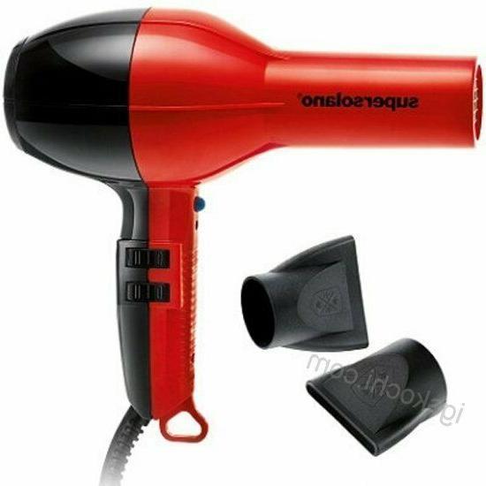 Super Solano Professional Salon Hair Blow Dryer Original 232 Red & Italy