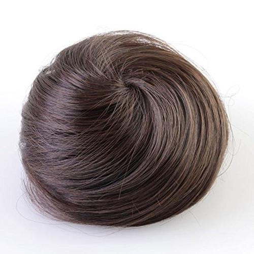 synthetic scrunchie hair bun cover