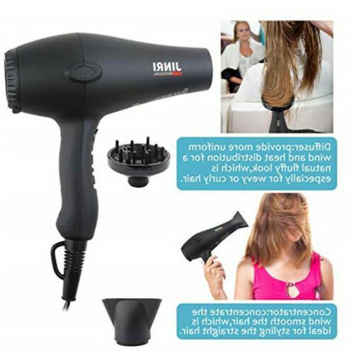 tourmaline 1875w hair dryer negative ionic salon