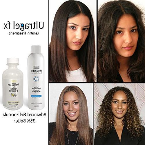 UltraGel Keratin Blowout Hair 120ml Advanced All Hair Coarse Curly Black Dominican Brazilian Straighten Repair Hair