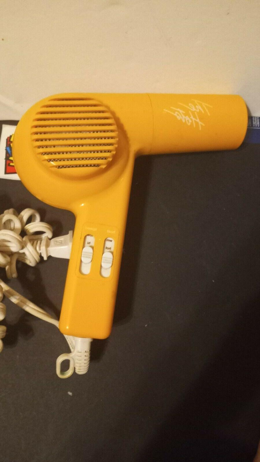 vintage the hots mini blow dryer orange