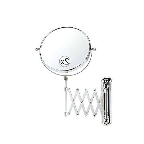 wall mounted magnifying mirror bathroom