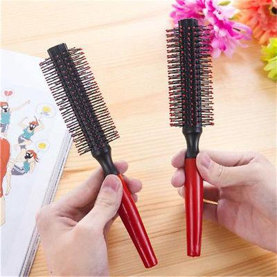 Wood Round Blow Dryer Hair Rollers Brush New