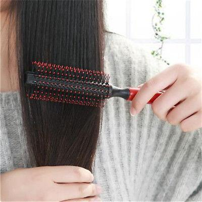 Wood Comb Round Blow Styling Hair Rollers New