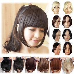 "LAY Fashion Thick 8"" Bangs Clip in Hair Extensions Front Nea"