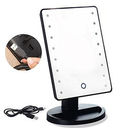 RightOn Lighted Makeup Mirror with LED Lights Touchscreen Se