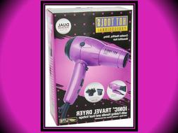 HOT TOOLS LITE IONIC FOLDING DUAL VOLTAGE PURPLE TRAVEL HAIR