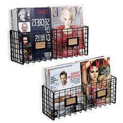 Wall35 Amalfi Metal Wire Baskets - Magazine Racks Organizer