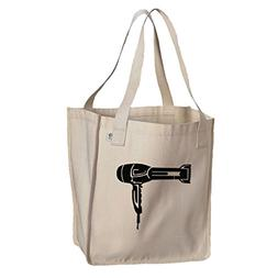 Market Tote Organic Cotton Canvas Hair Blow Dryer By Style I