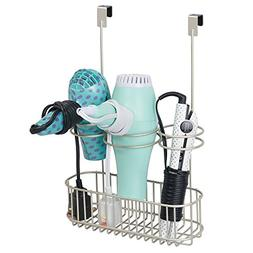 mDesign Over Door Bathroom Hair Care & Hot Styling Tool Orga